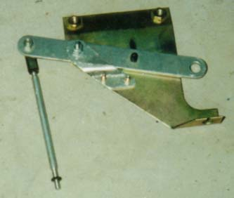 Accelerator pedal linkage removed from car